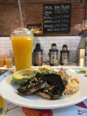 Breakfast at 'The Natural Kitchen', Marylebone High St.