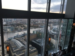 View from the bar, The Shard, London Bridge 31st floor